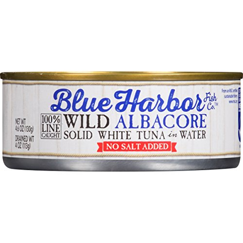 (Blue Harbor Wild Albacore Tuna, in Water with No Salt Added, 4.6 Ounce (Pack of)