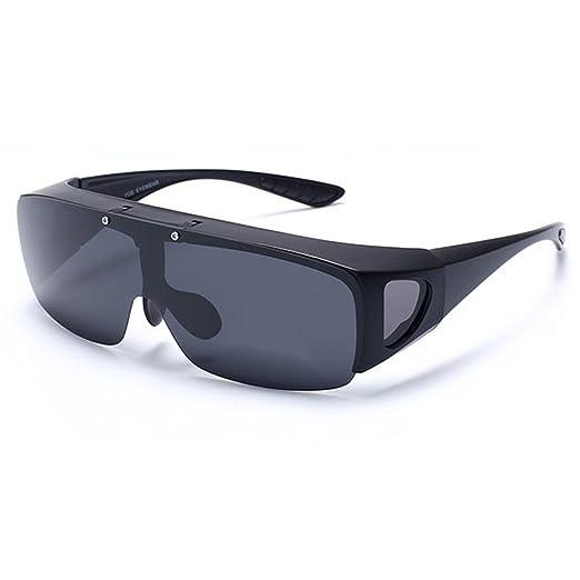 4fdd53724d22 Stylish Polarized Sunglasses UV400 Clear Vision Classic Glasses Eyewear  Black Frame Black Lens