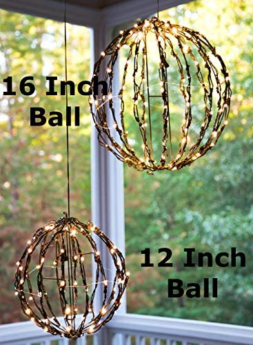 Elf Logic – 16 Outdoor LED Elf Logic Light Ball Hanging Tree Globe Light – Outdoor Holiday Light Ball Decor 16 Ball Plug in with Timer