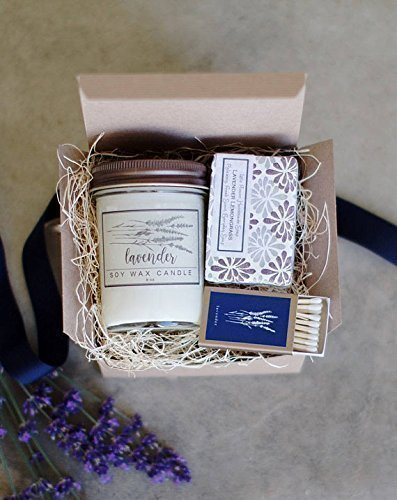 Handmade Soap and Candle Gift Set by The Little Flower Soap Co