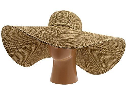 San Diego Hat Company Women's UBX2535 Ultrabraid XL Brim Sun Hat Multi Brown One Size -