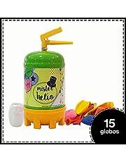 Bombona de Helio Desechable Mister Helio + 15 Globos de Latex. La Botella de Helio