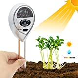 [2019 Upgraded] Soil Moisture Meter - 3 in 1 Soil Test Kit Gardening Tools PH, Light & Moisture, Plant Tester Home, Farm, Lawn, Indoor & Outdoor