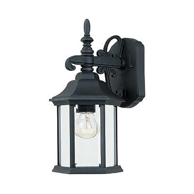 2961-BK Outdoor Wall Lantern, Black Cast Aluminum - Wall Porch Lights - .com