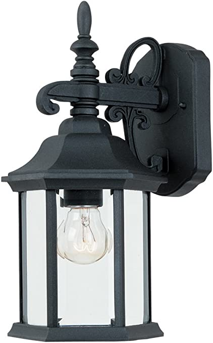 2961 Bk Outdoor Wall Lantern Black Cast Aluminum Wall Porch Lights
