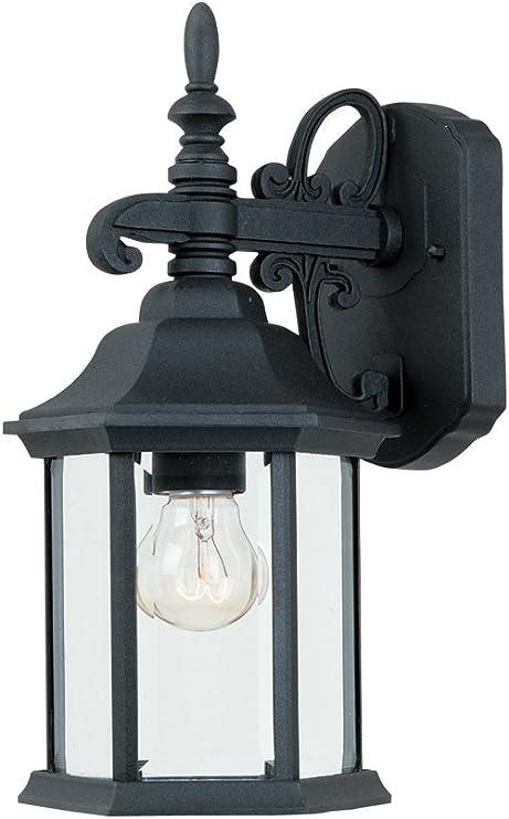 ATC 11 High Black Retro Aluminum Frame Outdoor Waterproof Rectangle Glass Box Single Light Wall Light Lamp Vintage Industrial Illumination Wall Sconce Fixtures