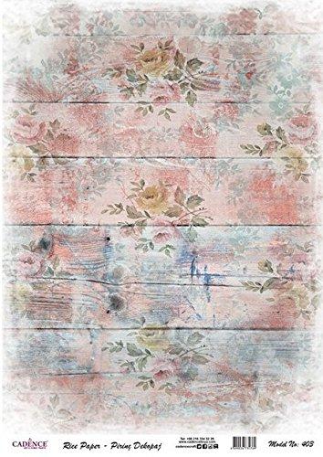 Cadence Papel de Arroz Madera Rosa Impresa 30x41 cm Ref. 403