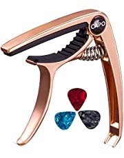 Bee-life Guitar Capo for Electric Guitar, Acoustic, Classical.Ukulele Capo, with 3 Pcs Guitar Picks and 1 Musical Instrument Wipe Cloth