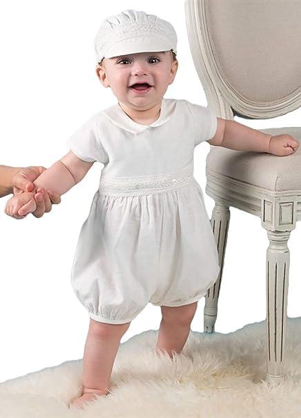 2d46674de ShineGown - Ropa de Bautizo - Onesie - para bebé niño Marfil Prematuro   Amazon.es  Ropa y accesorios