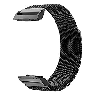 Gear S2 Watch Band, Simpeak Stainless Steel Metal Bracelet Band Strap with Strong Magnet for Samsung Gear S2 SM-R720 / SM-R730 Smart Watch, Black