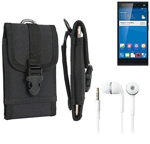 bolsa del cinturón / funda para ZTE Star 2, negro + Auriculares | caja del teléfono cubierta protectora bolso - K-S-Trade (TM)