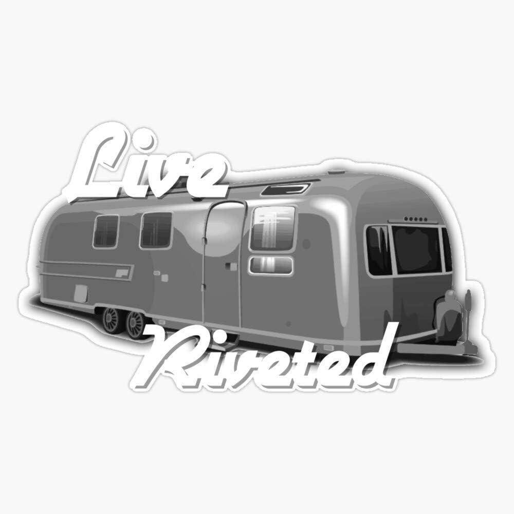New Modern Airstream Live Riveted Sticker Vinyl Decal Wall Laptop Window Car Bumper Sticker 5