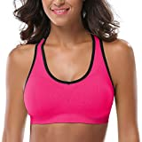 MIRITY Women Racerback Sports Bras - High Impact Workout Gym Activewear Bra Color Hotpink Size XL