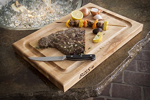 John Boos Block BBQBD Reversible Maple Wood Edge Grain BBQ Cutting Board with Juice Groove, 18 Inches x 12 Inches x 1.5 Inches by John Boos (Image #1)