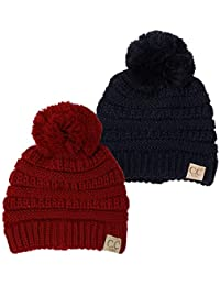 CC Kids Baby Toddler Cable Knit Children's Pom Winter Hat...