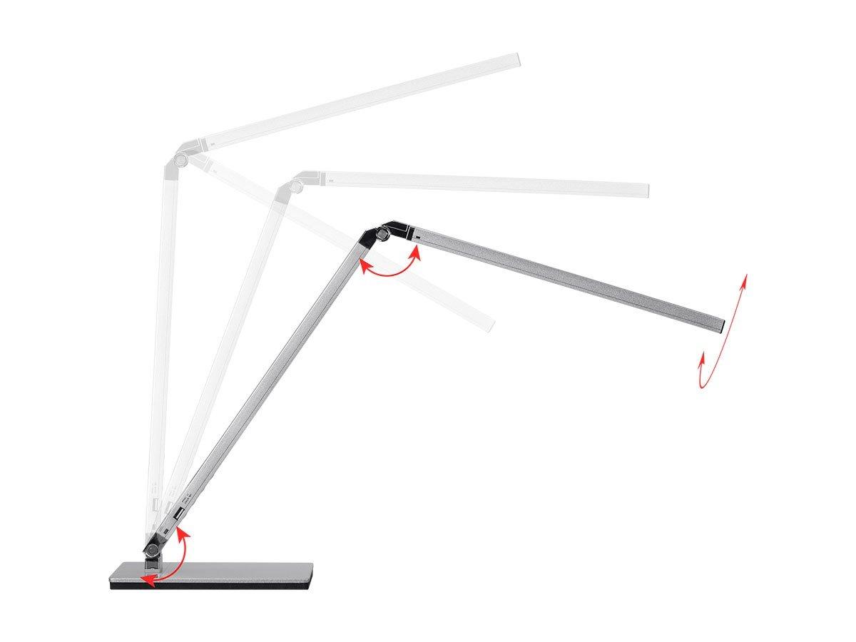 Monoprice LED Aluminum Desk Lamp, Silver - (116365) by Monoprice (Image #2)