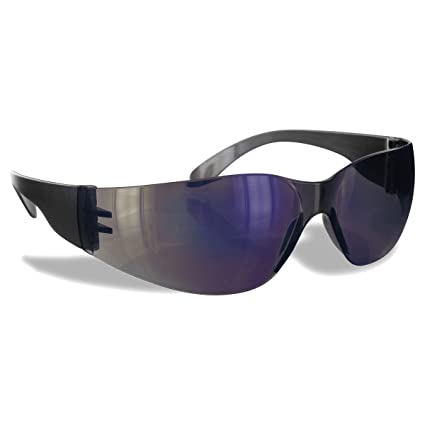 ef707ed7e005 Rugged Blue Diablo Safety Glasses (Blue Mirror 1 Pair) - - Amazon.com