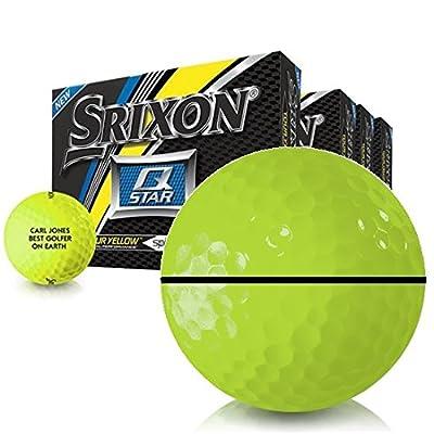 Srixon Q-Star Tour Yellow AlignXL Personalized Golf Balls - Buy 3 DZ Get 1 DZ Free