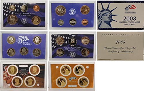 John Quincy Adams Dollar Coin (2008 S US Mint Proof Set Original Government Packaging)
