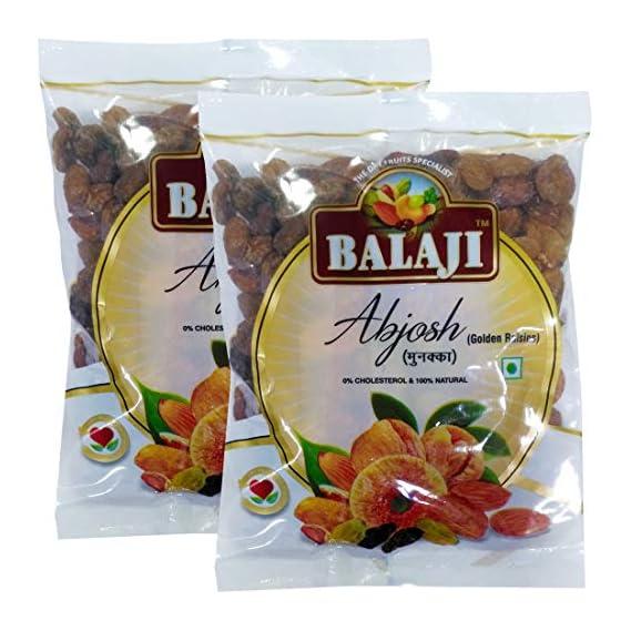 Lali Balaji Dry Fruits Abjosh Regular Munakka, 250 g Each - Pack of 2
