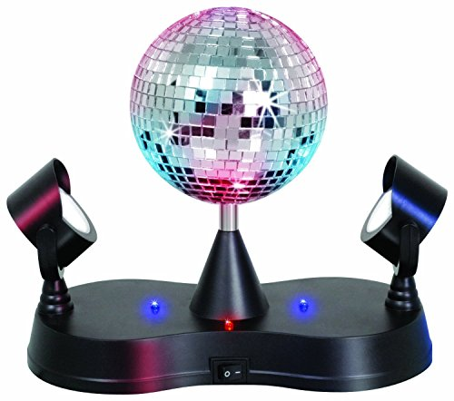 Rotating Mirror Ball With Led Lights
