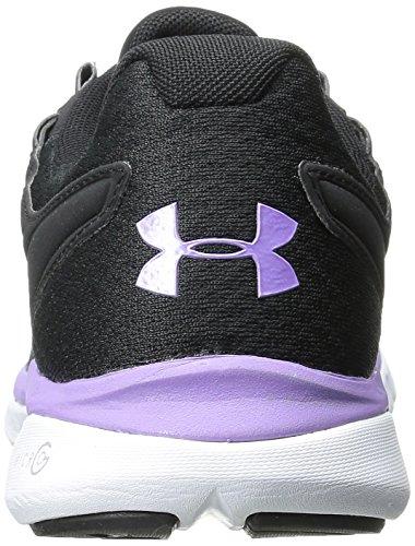 Onder Pantser Dames Ua Micro G Velocity Rn Sneaker Zwart / Wit / Levendig Lila
