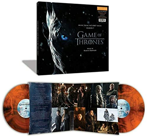 (Game Of Thrones (Music From The HBO Series) Season 7 (Exclusive Limited Edition Dragon Fire Edition 2XLP Vinyl) [Condition-VG+NM])