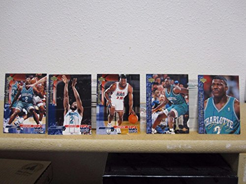LARRY JOHNSON 1994 UPPER DECK USA BASKETBALL 532 CARD LOT #'S 19-24 BV 210.00 (Deck Bv)