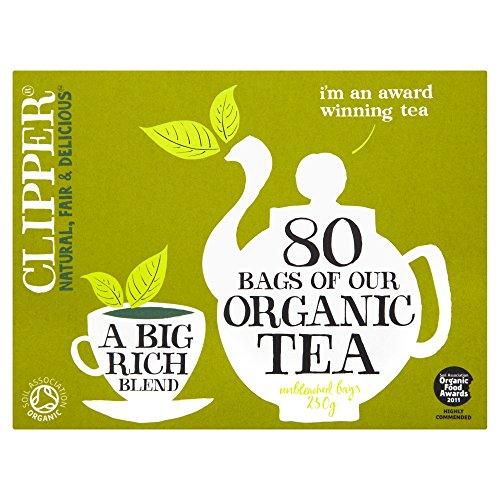 Clipper Teas - Everydays - Organic Tea - 80 Bags (Case of 6) by Clipper Tea