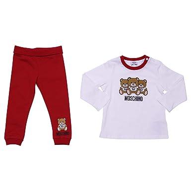 ineguagliabile nelle prestazioni massimo stile prezzo di fabbrica Moschino Baby Completo Rosso e Bianco in Cotone MOD ...
