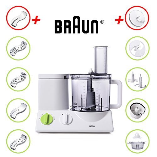 BRAUN FP3020 Food Processor With The Coarse Slicing Insert Blade And French fry System Bundle – 3 items by Braun (Image #1)