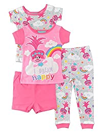 Trolls Toddler Girls 4 pc Pajama Set Sleepwear - Have A Poppy Day