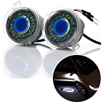 DELEIKA Ford Side rear view mirror projector ghost shadow puddle logo light for Ford Edge Expedition Explorer FLEX Fusion Taurus F-150 C-MAX Escape Focus fading color plug and play-2pc set (F-150)