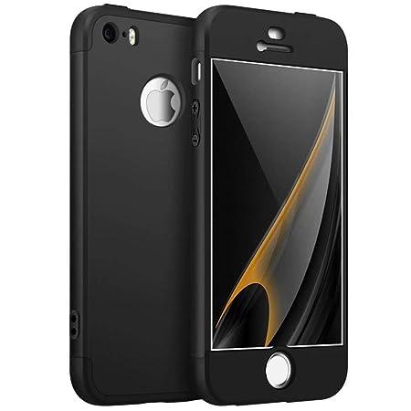 AILZH kompatibel für HandyHülle iPhone 5/5S/5SE Hülle 360°Schutzhülle PC Shell Anti-Schock Anti-Kratz Stoßfänger 360 Grad Ful