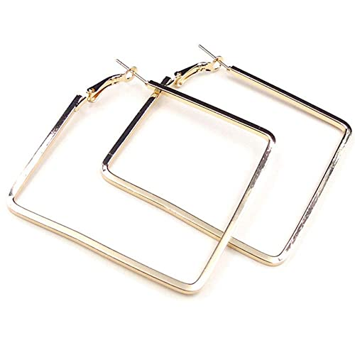 Cereza Stainless Steel Simple Geometric Hoop Earring For Women Girls by Cereza
