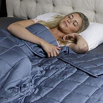 Image of Huggaroo Cooling Weighted Blanket - 15 lb, Grey Huggaroo B07SHJVV7W Weighted Blankets