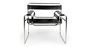 Kardiel Wassily Chair, Black Saddle Leather