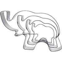 Elephant Cookie Cutter Shapes Set Stainless Steel Elephant Shaped Cookie Molds, 4 Counts by Shxstore