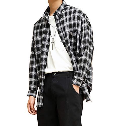 ブロック鼻だらしないWEEN CHARM メンズ シャツ 長袖 チェックシャツ ストライプシャツ ビッグシルエット カジュアルシャツ オシャレ ワイシャツ 良質 肌触り良い メンズ トップス ギンガムチェックシャツ 春夏秋冬