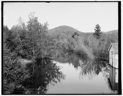 Photo: Outlet,water bodies,Squam Lake,New Hampshire,NH,Detroit Publishing - Outlet Hampshire Shopping