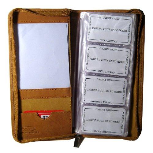 Genuine Leather Business Card Holder Organizer Case Wallet 1