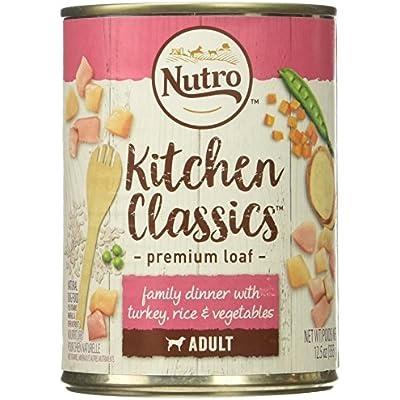 Nutro 50411567 Tender Turkey & Rice Recipe Can Senior Dog Food, 12 Ea/12.5Oz