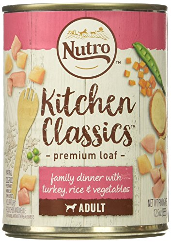 Nutro 50411567 Tender Turkey & Rice Recipe Can Senior Dog Food, 12 Ea/12.5Oz Review