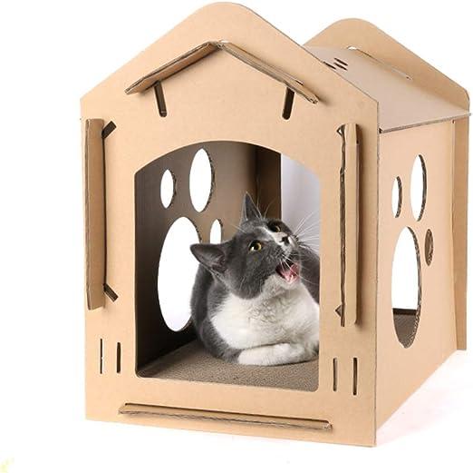 Casa de gato de cartón reciclable, tablero rascador de gato ...