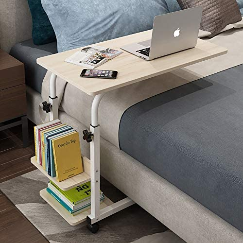 パソコンデスク 取り外し可能なコンピューター付きの便利なベッドサイドデスク勉強机オフィスワークステーション自宅とオフィスのダイニングテーブル、書斎、書斎、収納付き