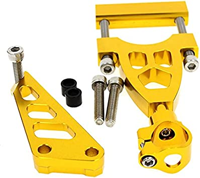 FXCNC Racing Motorcycle CNC Steering Damper Stabilizer Buffer Control Bar With Mounting Bracket Kit Full Set Fit For Yamaha YZF R1 1998-2001