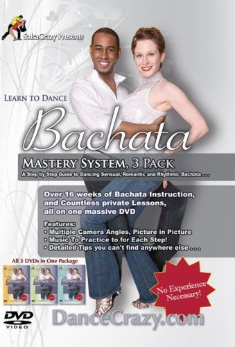 Learn To Dance Bachata, Bachata Dance Mastery System, 3 DVD Set: A Step-By-Step Guide To Bachata Dancing by SalsaCrazy.com