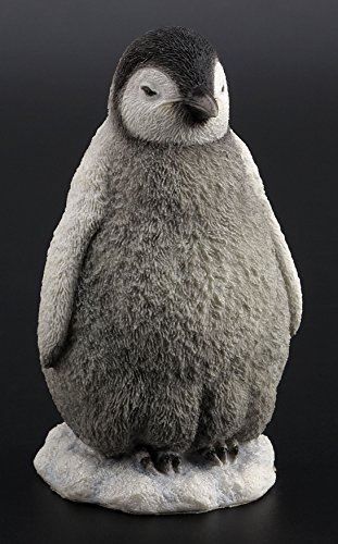 4.88 Inch Baby Penguin Standing Decorative Figurine, Gray and White ()