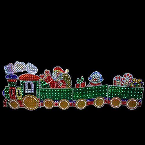 Lighted Christmas Train Outdoor Decor