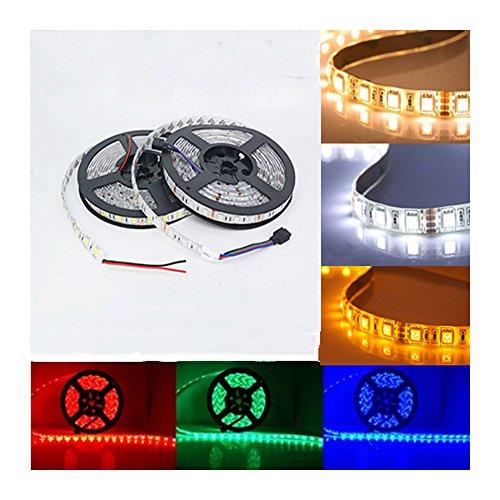 6STARSTORE 5m led strip 5050 ip65 waterproof 60led/m dc12v flexible led light strip rgb warm cool white led ruban luces led tiras
